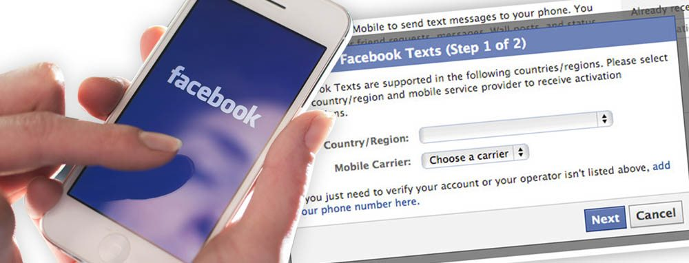 Facebook Tips - Facebook SMS and Text Messages