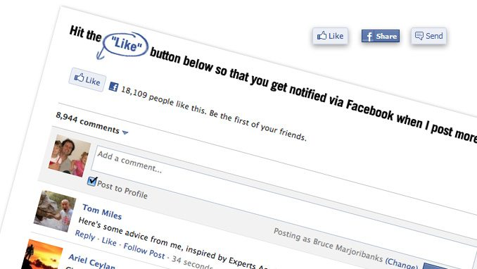 Facebook Tips - Like and Share Buttons