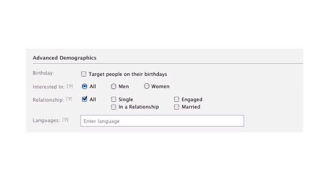 facebook ppc ad demographics