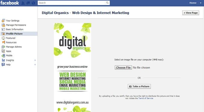 create a facebook profile image
