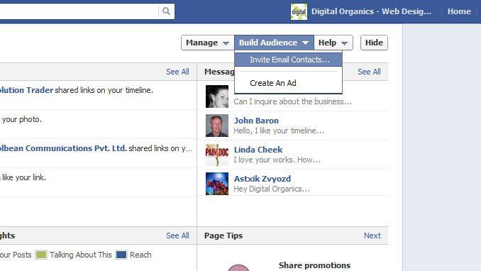 Facebook Admin Invites