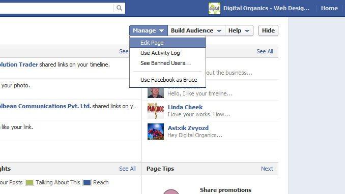 Edit Facebook Page
