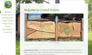 crystalwaters.org.au website