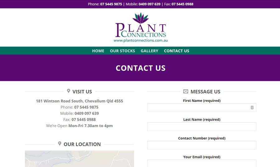 Plant Connections Contact