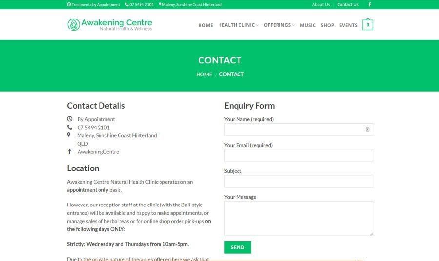 awakening centre contact