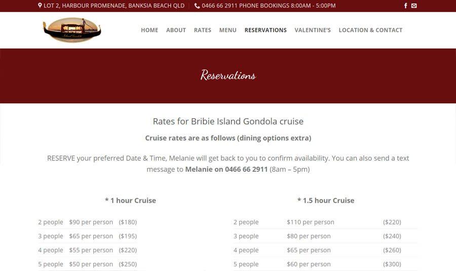 Bribie Island Gondola Reservations