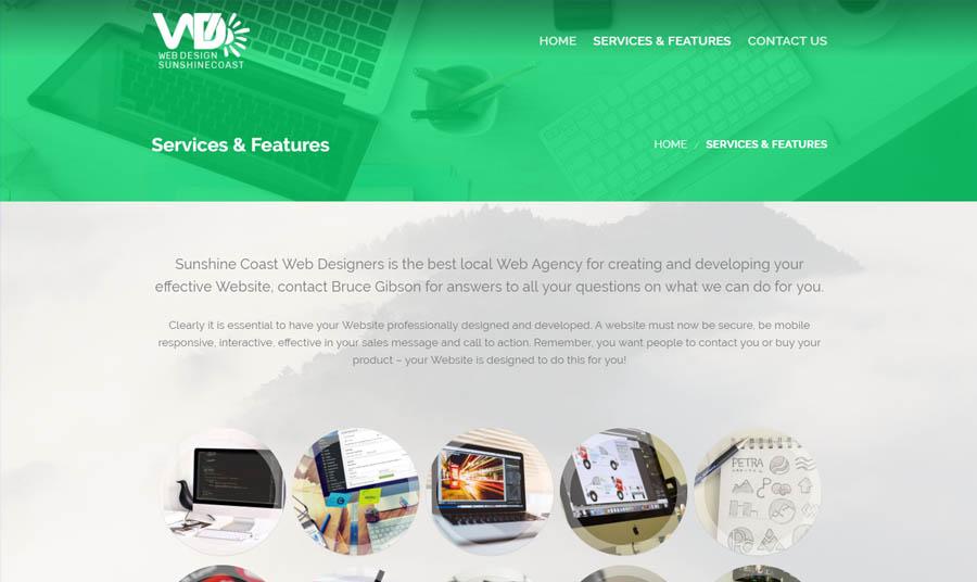 web design sunshine coast services and features