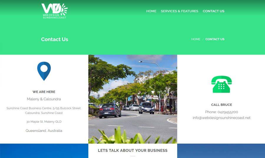 web design sunshine coast contact